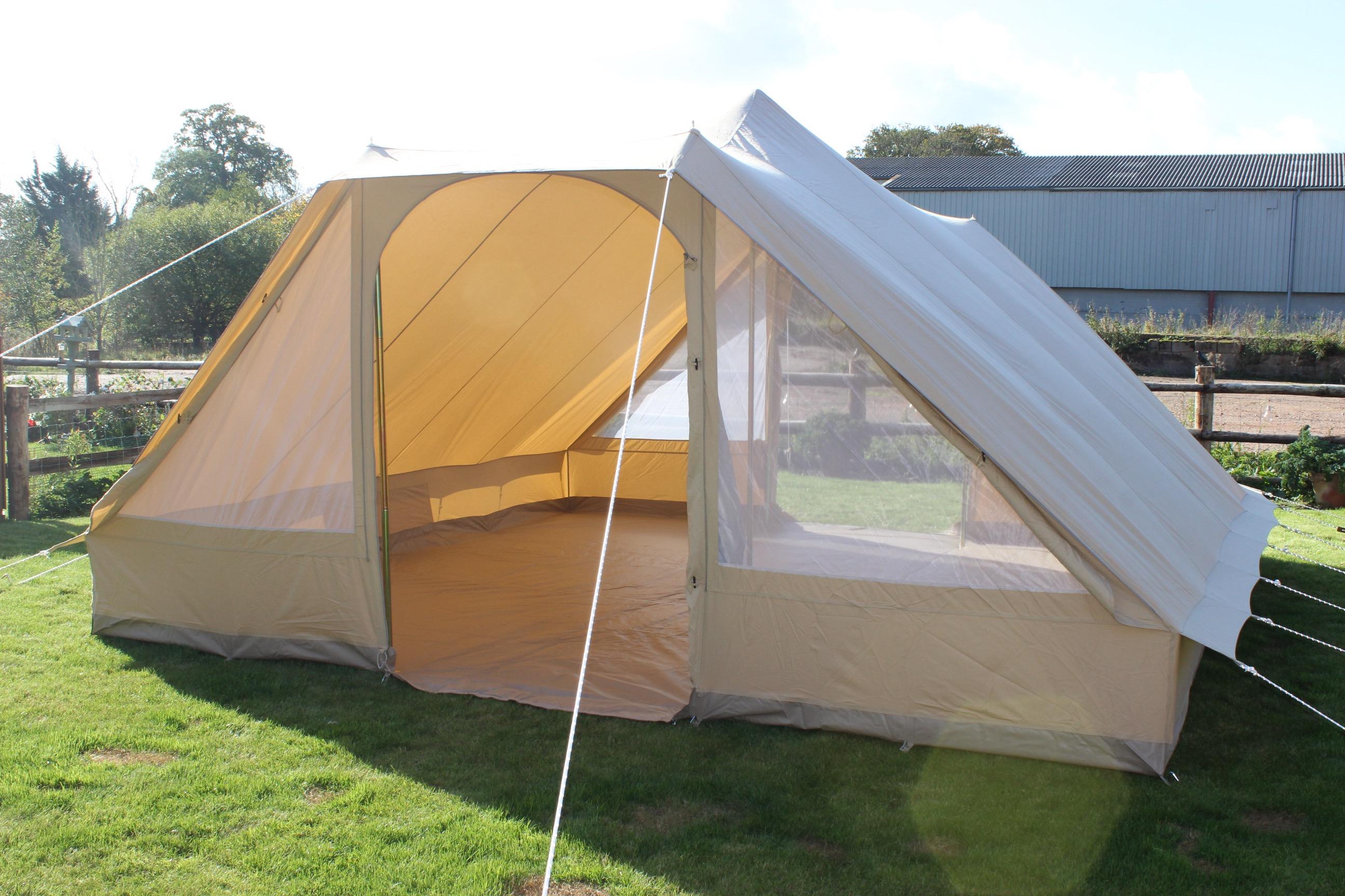 Canvas Pyramid Tent - Double Door | Karma Canvas