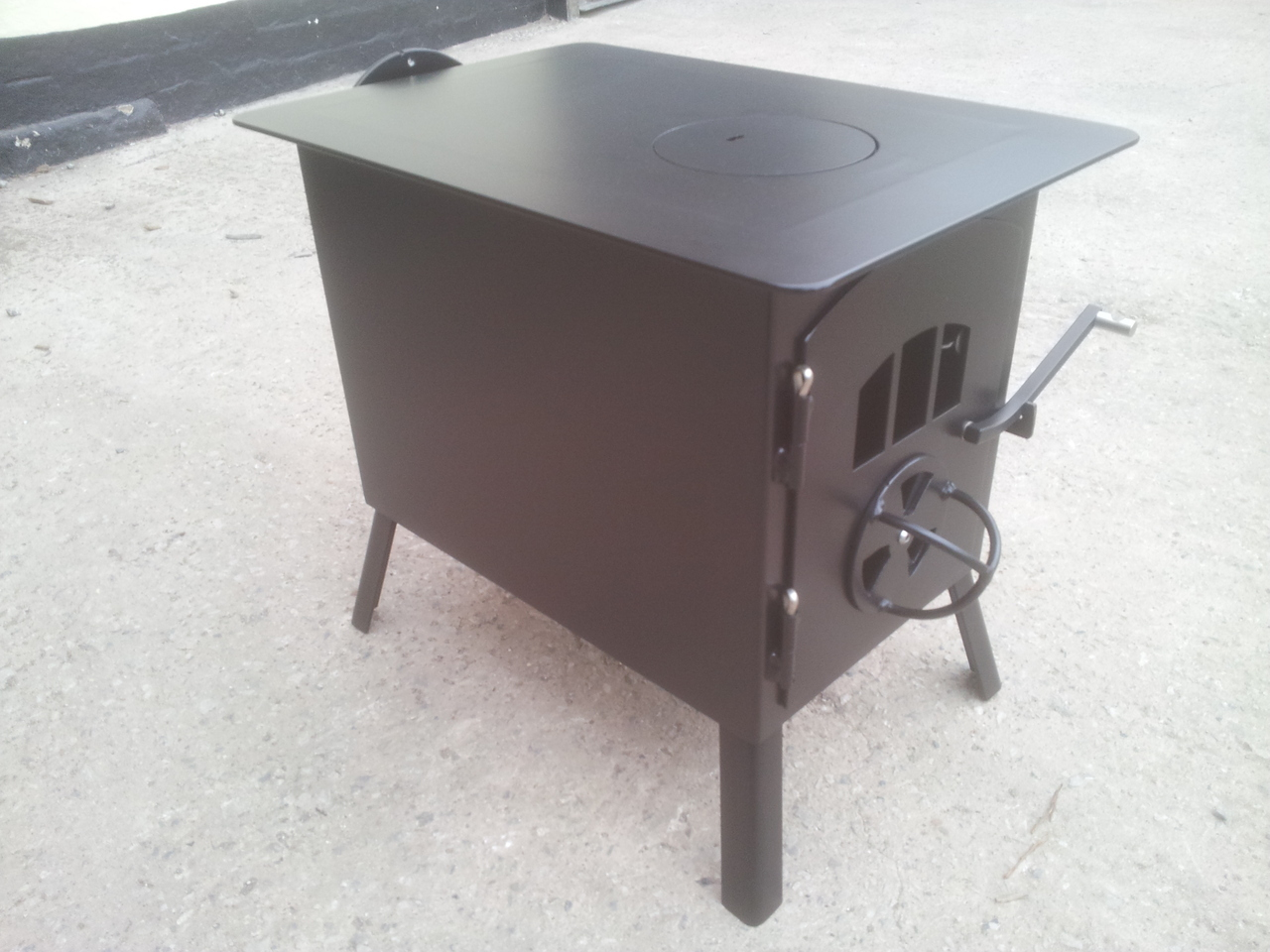 4kw Stove With Rear Exiting Flue Kit Karma Canvas