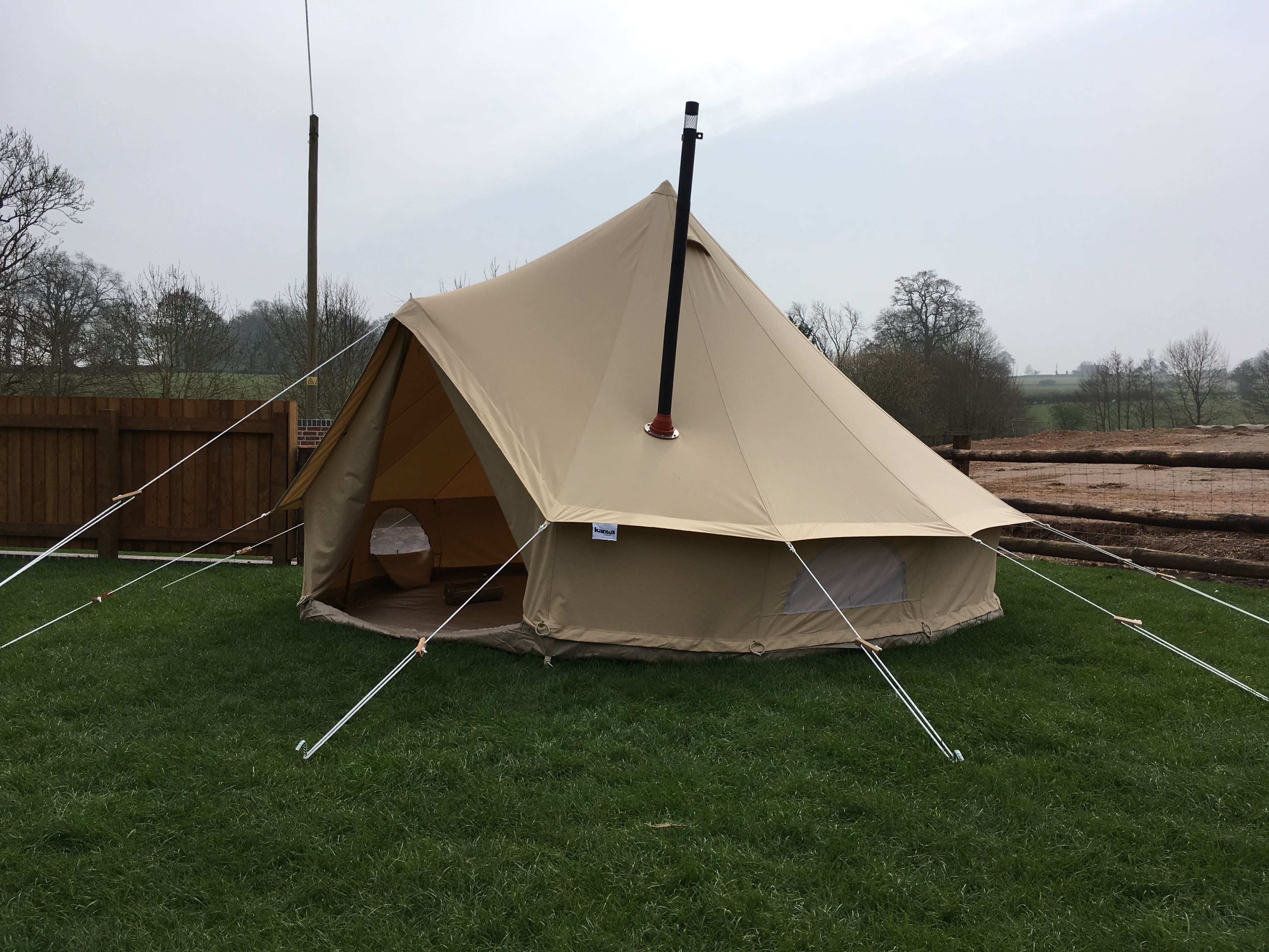5m Zig Fireproof Pro Bell Tent Karma Canvas