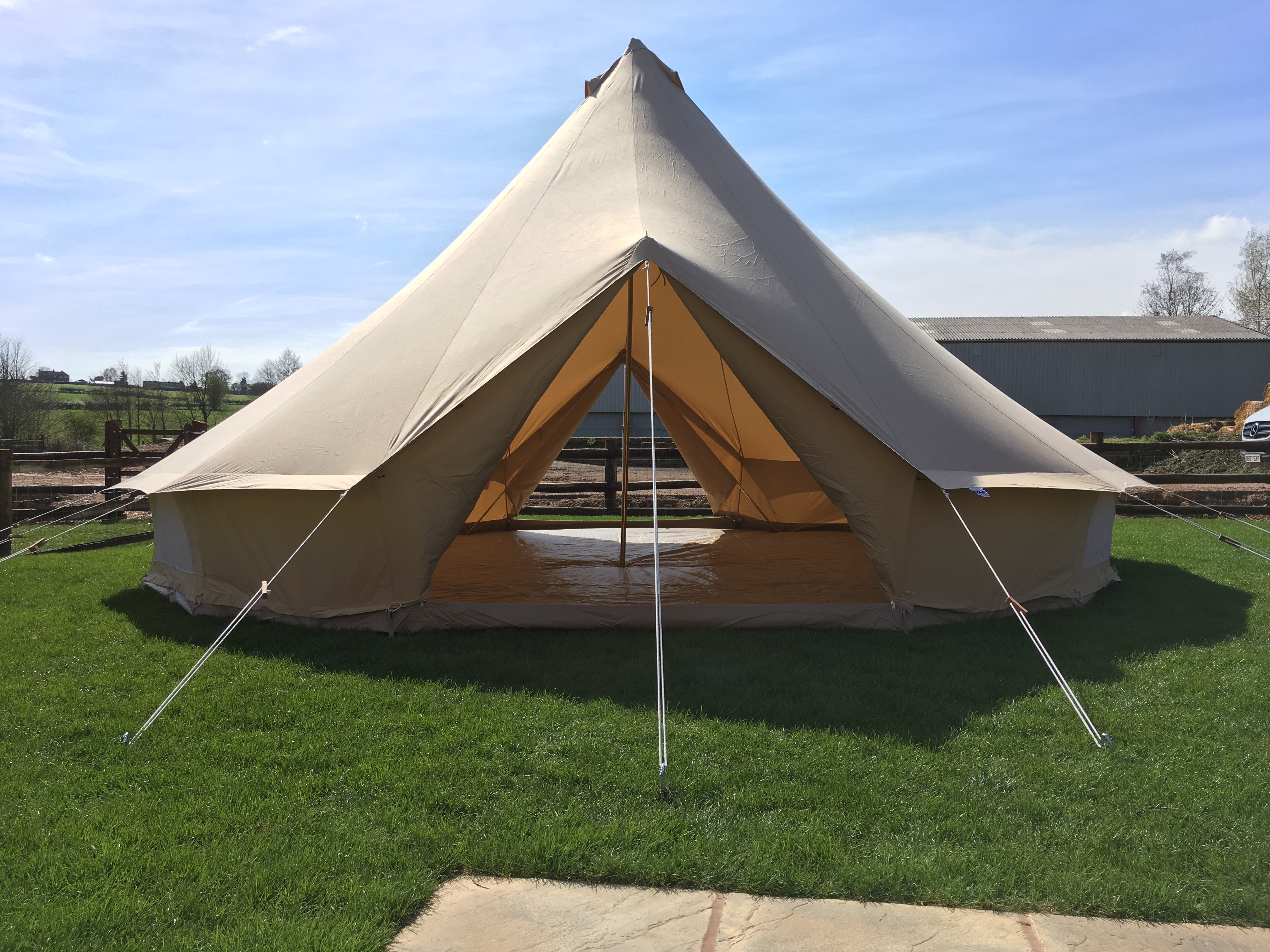 7m ZIG Bell Tent u2013 Double Door & 7m ZIG Bell Tent - Double Door | Karma Canvas