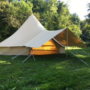 Medium Canvas Awning 285gsm & Bell Tent Accessories | Karma Canvas