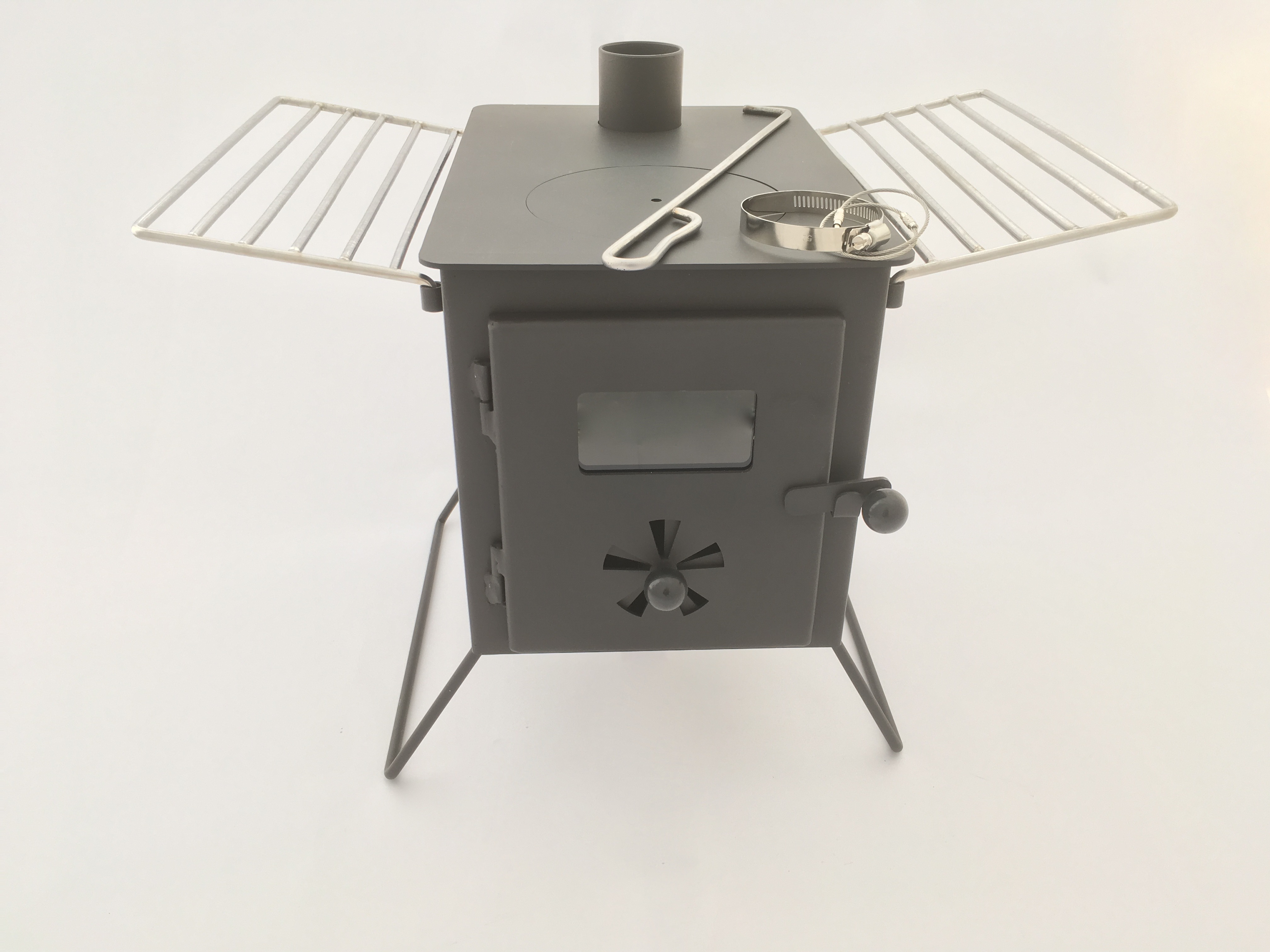 Nomad Stove With Roof Exit Flue Karma Canvas
