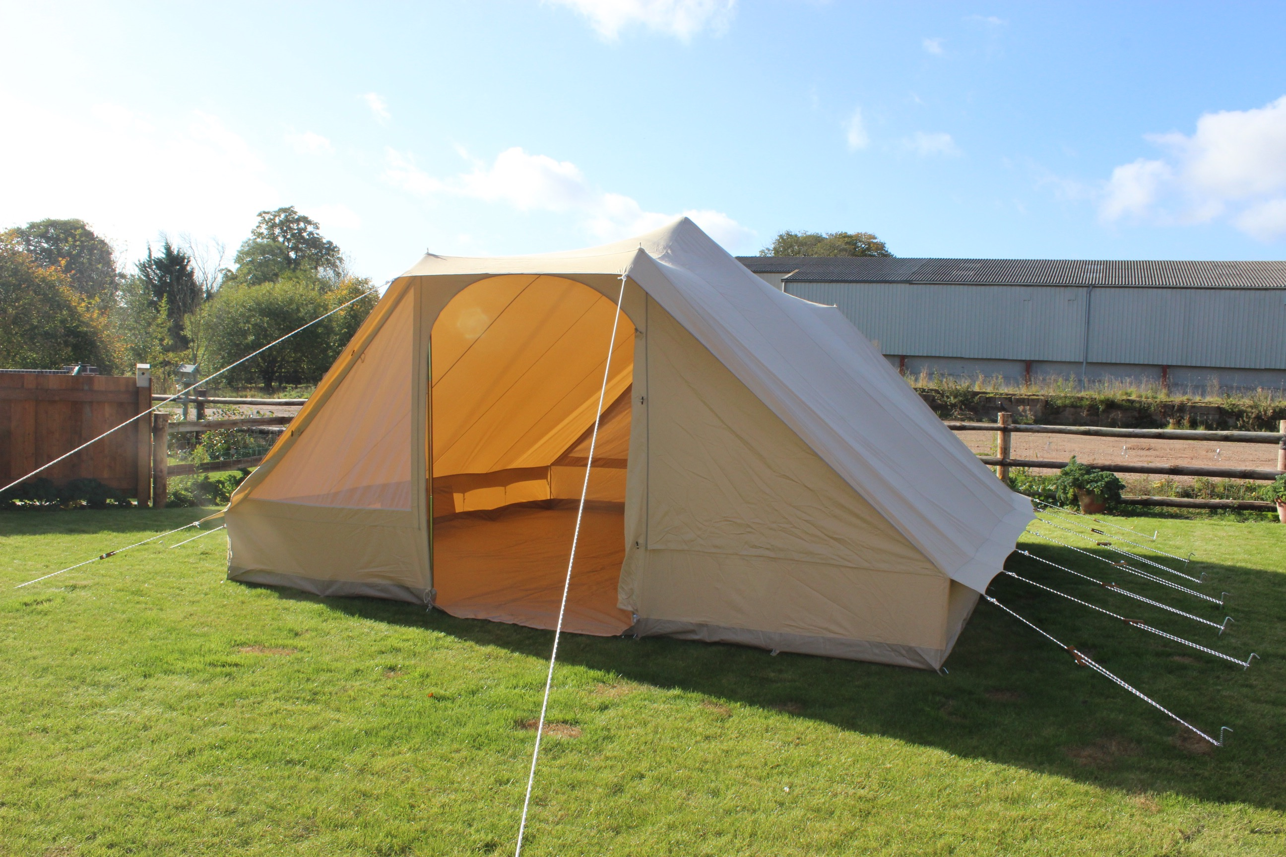 Canvas pyramid tent double door karma canvas for Canvas tent plans