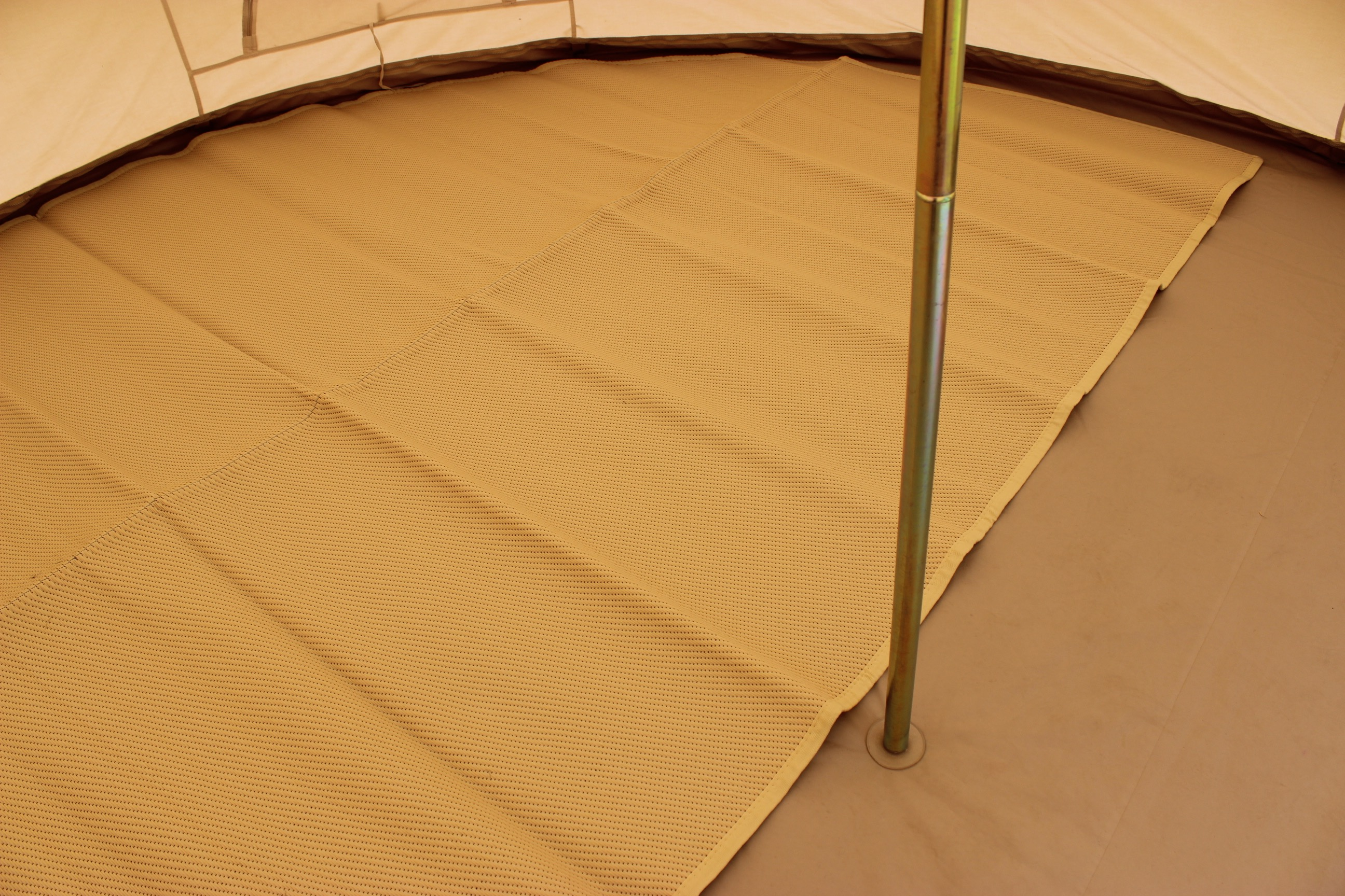 Bell tent recycled polypropylene Matting 4 and 5 metre sizes Natural colour